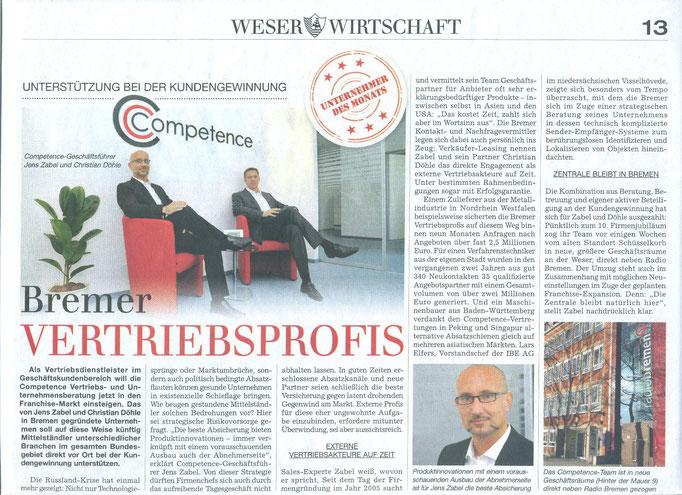 Competence Presse Weser Wirtschaft