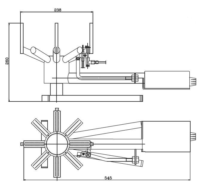 Technische Maße Gasbrenner
