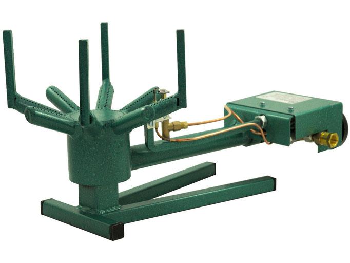 Gasbrenner der Firma Van Holten mit Erdgas oder Propangas für die Verwendung im Entenofen