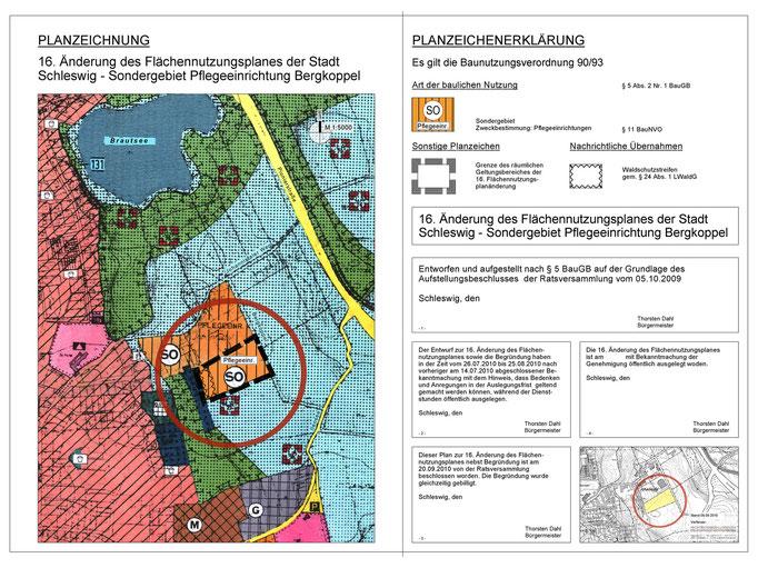 16. Änderung des Flächennutzungsplanes der Stadt Schleswig