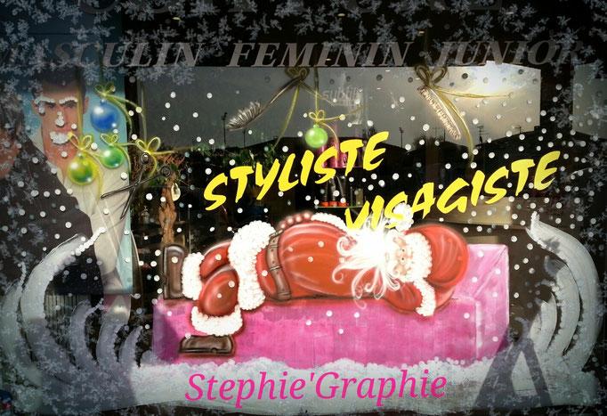 "Vitrine de NOEL 2015 ""NEW STYLE"" à ST ALBAN."