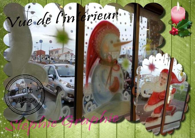 Vitrine de NOEL , boulangerie à Lapeyrouse Fossat.