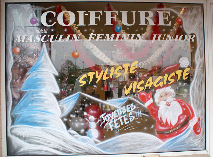 """New Style"" à Saint Alban - Vitrine de Noël"