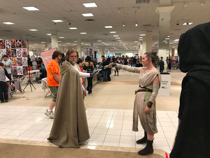 This was an AWESOME act of spontaneity!  When Luke meets Rey...