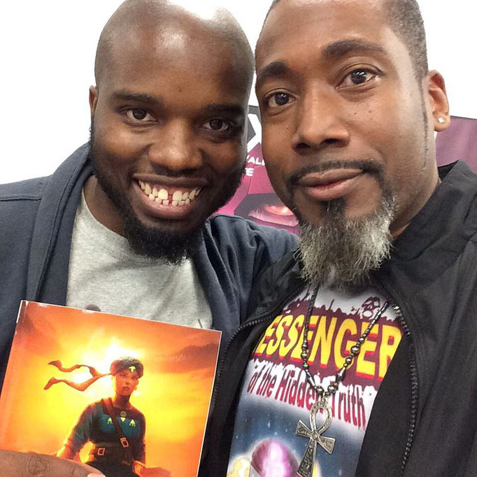 James with Roye Okupe, owner and creative director of YouNeek Studios!