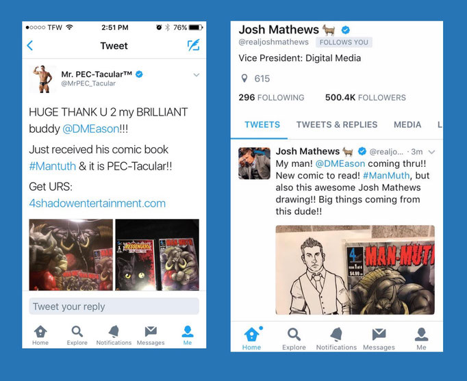 From the world of Professional Wrestling, Jesse Godderz and Josh Mathews got their books, did you?