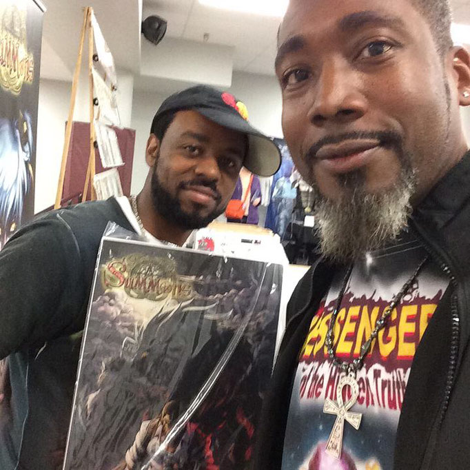 James with Chris Williams, the creator, writer, and illustrator of the Summons comic book series!