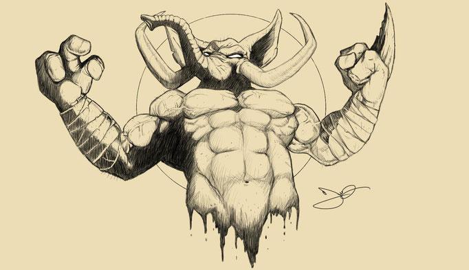 Man-Muth Sketch by Fernando Lyons