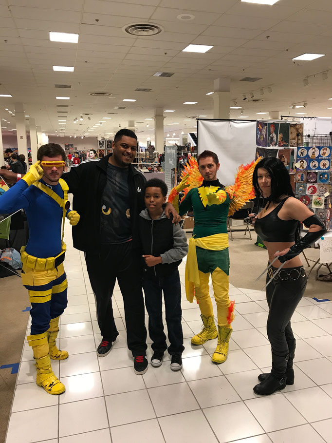 Fernando and son, hanging with the X-Men!