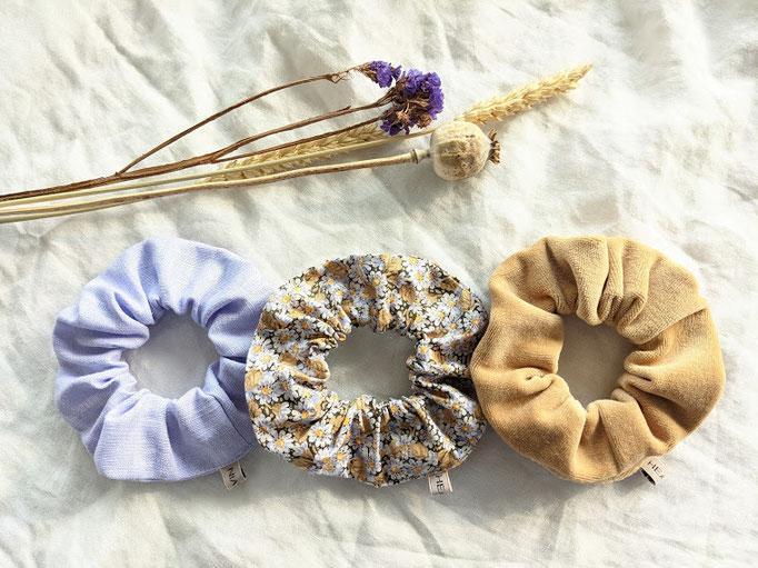 Scrunchie-Set Gänseblümchen