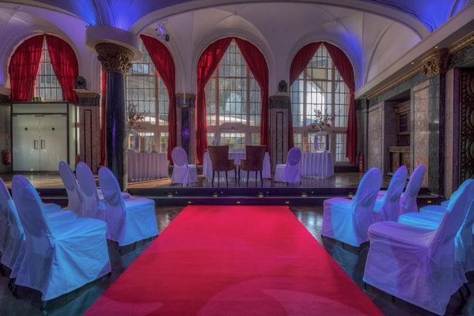 Impressionen aus dem Festsaal des Wartesaals am Dom - Einrichtung für eine Trauung