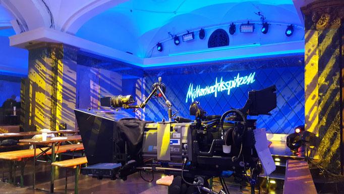 Impressionen aus dem Festsaal des Wartesaals am Dom  - Kameraaufbau für eine TV-Aufzeichnung für den WDR