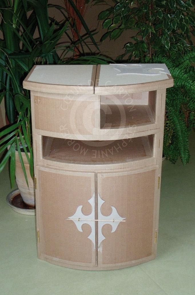 Meuble portes et tiroirs en carton