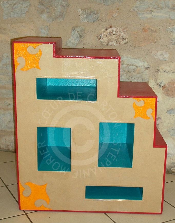Chevet 4 niches en carton