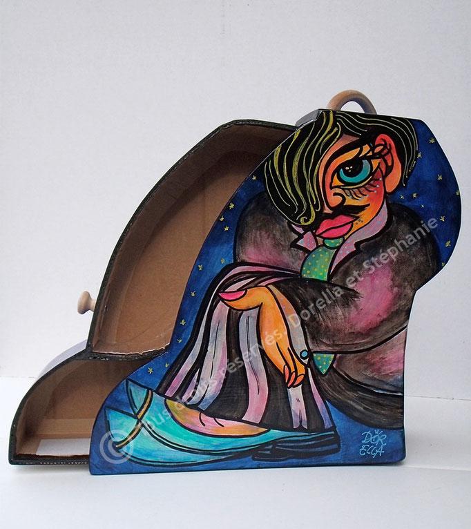 Valise pour chaussures de Tango, décorée par Dorella Gigliotti (voir rubrique Rencontres)