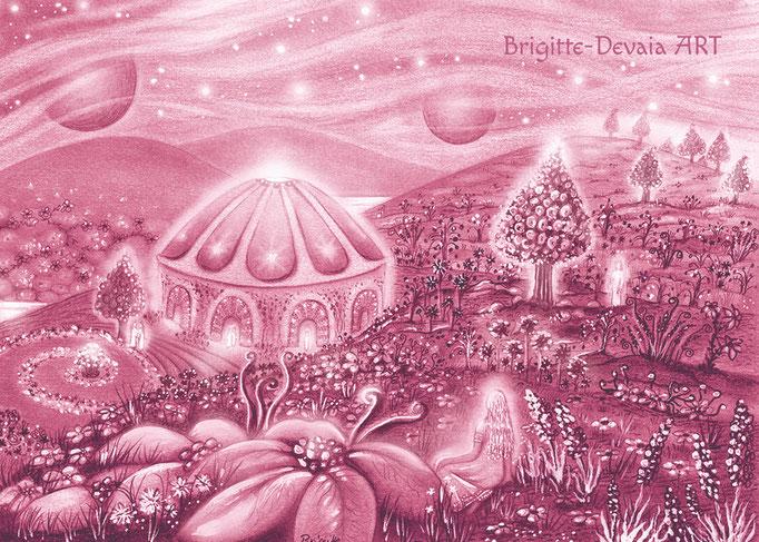 Brigitte-Devaia ART - Sternenwelt Jupiter (Zeichnung - Buchillustration)