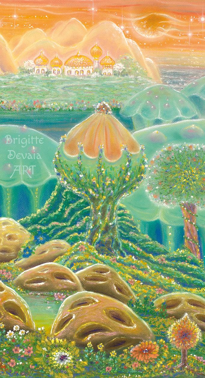 Brigitte-Devaia ART - Sternenwelt Venus - exotische Landschaft - Auschnitt Baum