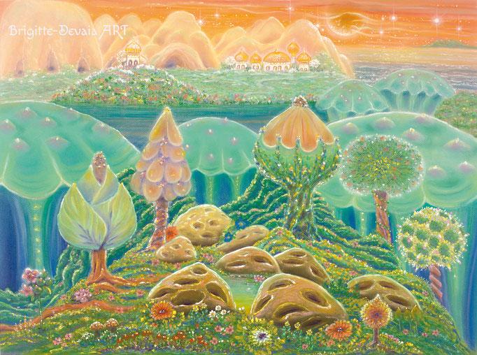 Brigitte-Devaia ART - Sternenwelt Venus - exotische Landschaft