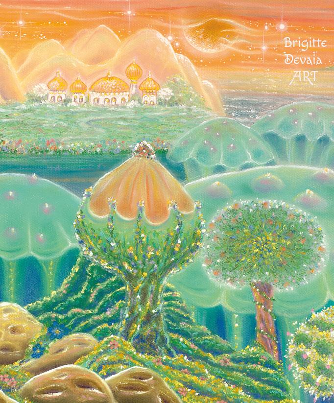 Brigitte-Devaia ART - Sternenwelt Venus - exotische Landschaft - Ausschnitt Fernblick
