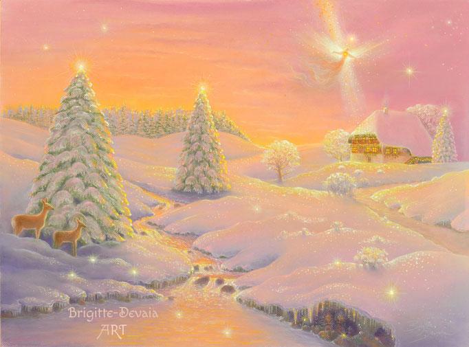 Haussegen Engel und Naturzauber