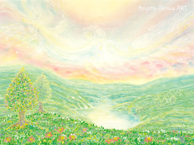 Brigitte-Devaia ART - Sternenwelt Venus - stiller See