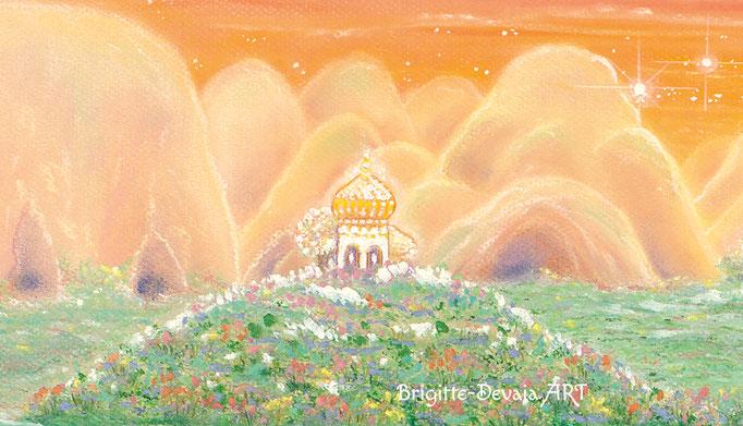 Brigitte-Devaia ART - Sternenwelt Venus - exotische Landschaft - Ausschnitt Berge