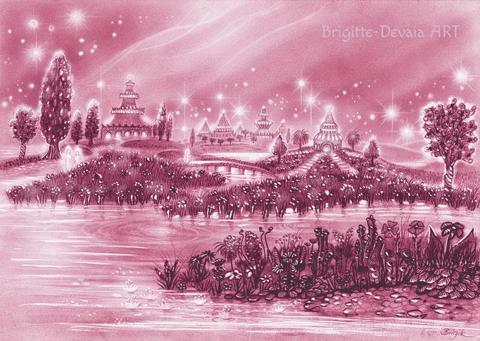 Brigitte-Devaia ART - Sternenwelt Mahitra (Zeichnung - Buchillustration)