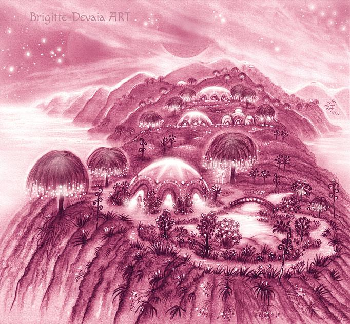 Brigitte-Devaia ART - Sternenwelt Mars (Zeichnung - Buchillustration)