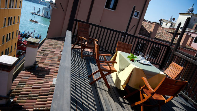 Corte Barozzi Venice: our rooftop terrace