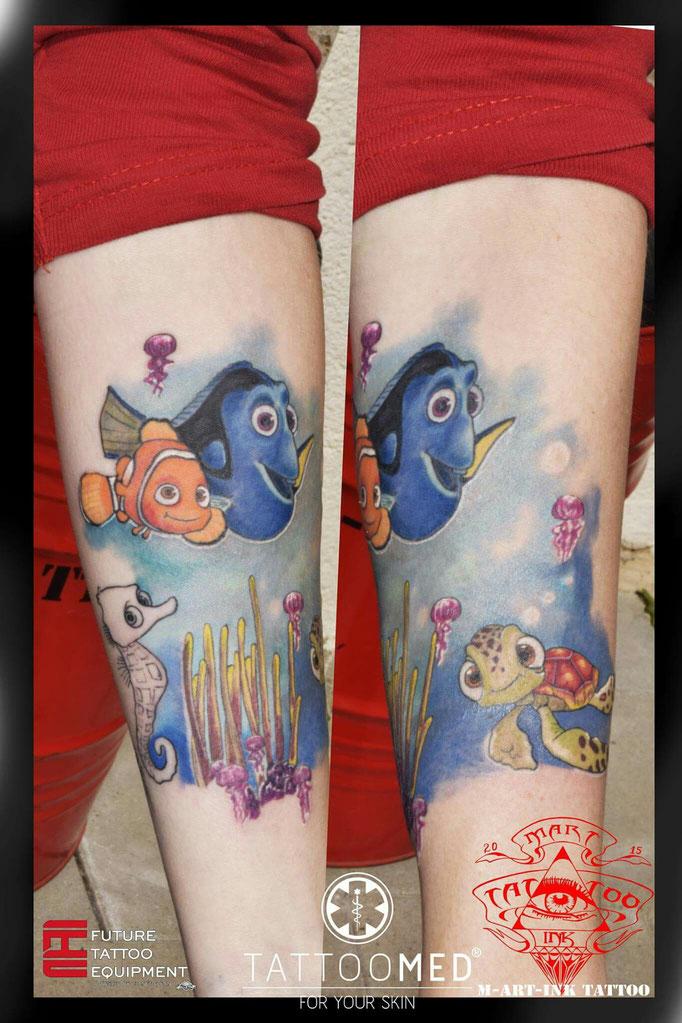 Nemo und Dori sleeve