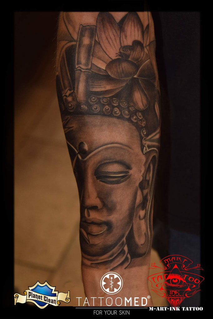 --Spirtual Buddha from today Work in progress by MartInk Martin Kolacek#tattoomed #tattoo #tattoos #MartINK #tat2 #FeldkirchenWesterham #products #tattooSafe #CheyenneNadelmodule #tattooSafeProducts #planetClean #planetCleanProducts #SwissTattoomachine #SwissInk #SwissMachine #SwissUnchained #DragonflyX2 #SilverbackInk #SilverbackXxl #Kwadron #Needles