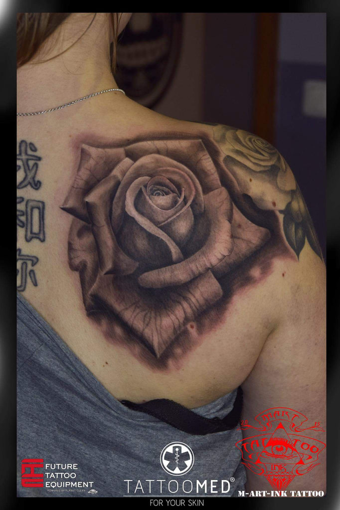 Rose Black and Gray by Martin Kolacek