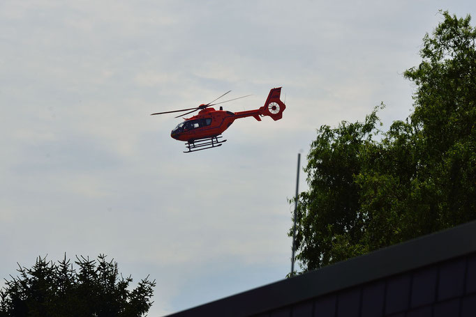 Luftrettung nach Badeunfall am Steinrodsee