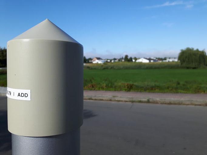 Es gibt zahlreiche Messpunkte rund um das Kernkraftwerk Philippsburg.