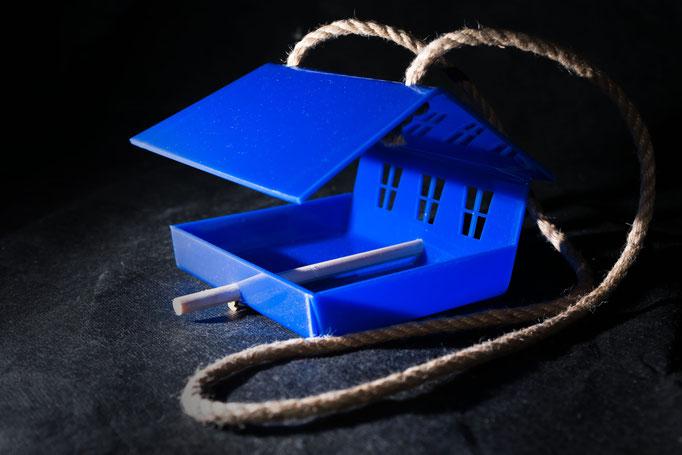 Кормушка для птиц - Шале синий