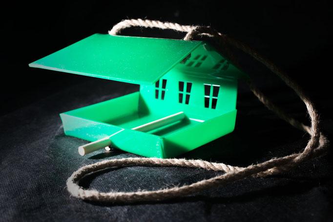 Кормушка для птиц - Шале зелёный