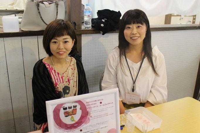 東京や神奈川で活動中のコンビ、宮アロマコラージュセラピスト&仟さま。