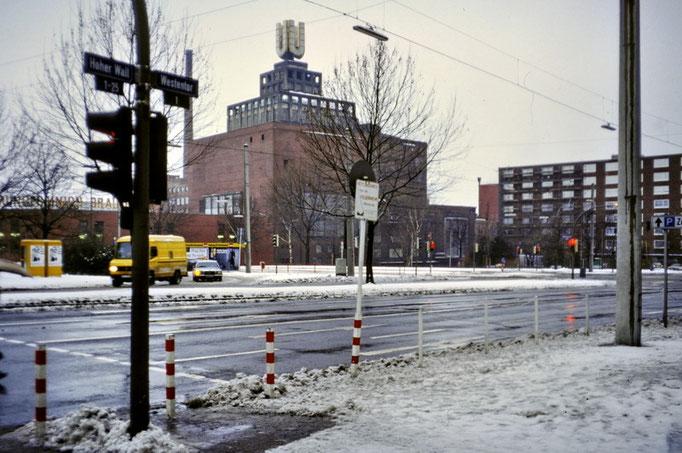 Union Brauerei Dortmund - Blick vom Westenhellweg 1991