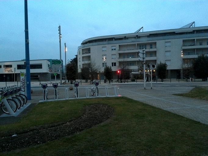 Emplacement quartier (prise de vue du parking de la Mairie)