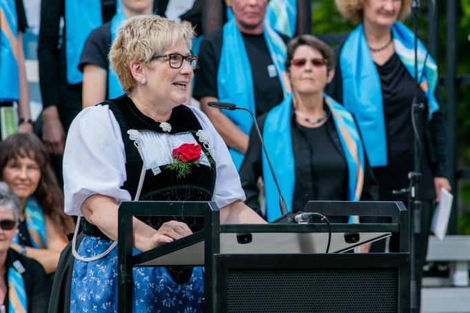 Beatrice Simone, Regierungsrätin Kanton Bern, an der Eröffnungsfeier