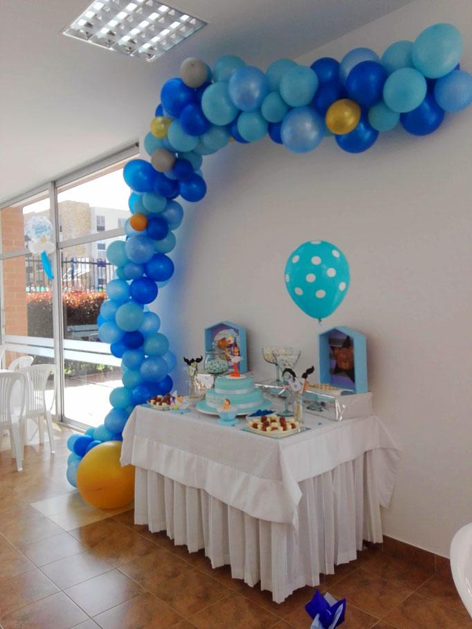 Decoración con bombas baby shower Cajicá Chía Bogotá