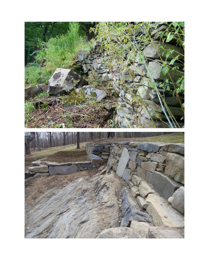 Upper wall: before and after
