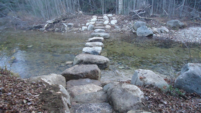 The stepping stones and staircases
