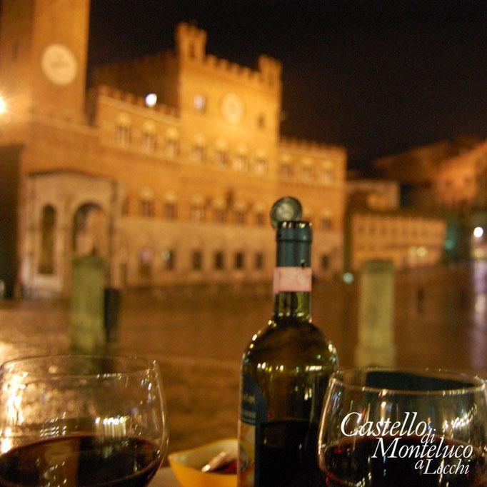 Piazza del campo di notte | «Campo» square by night