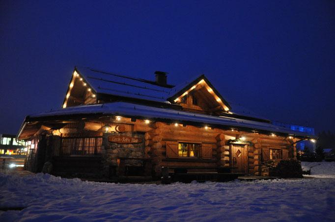 Die Bärenhütte im Winter - direkt am Fuße von Nassfeld