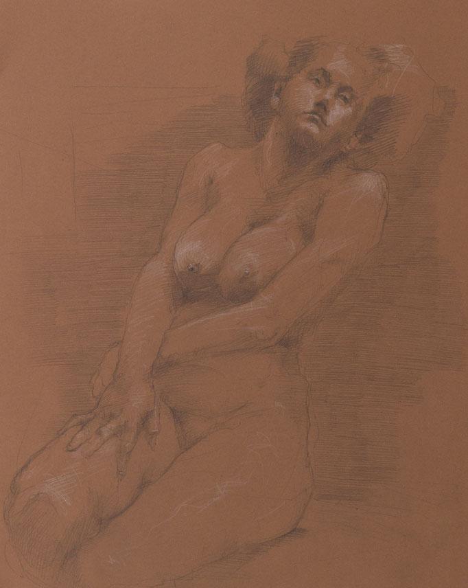 Nackt, 2014, 50x40, Graphit/Papier, A23                            ©Raimund Egbert-Giesen