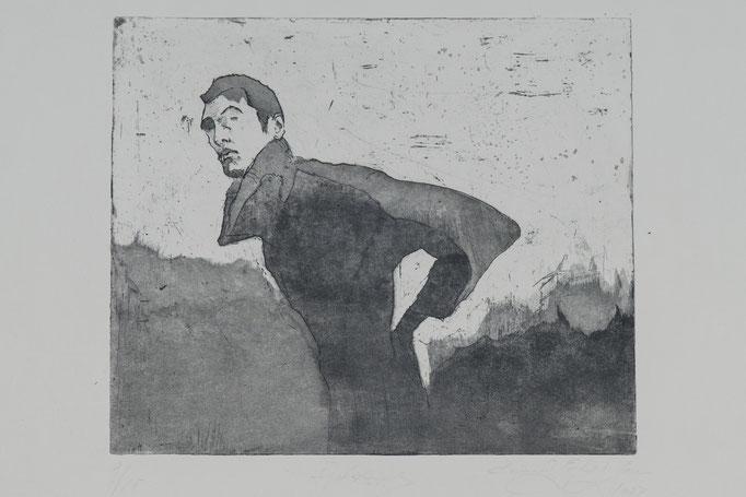 Adonis, 2003, 29x24,5 , Radierung/Bütten, R6                                  ©Raimund Egbert-Giesen