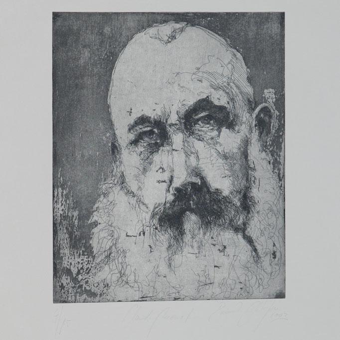 Claude Monet, 2003, 29x24, Radierung/Bütten, R10                                  ©Raimund Egbert-Giesen