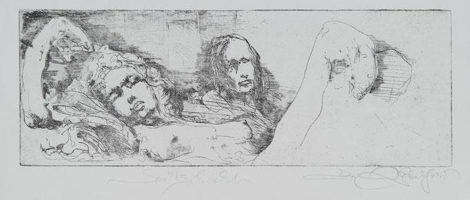 Spätschicht, 2011 , 44x16, Radierung/Bütten, R17                                  ©Raimund Egbert-Giesen