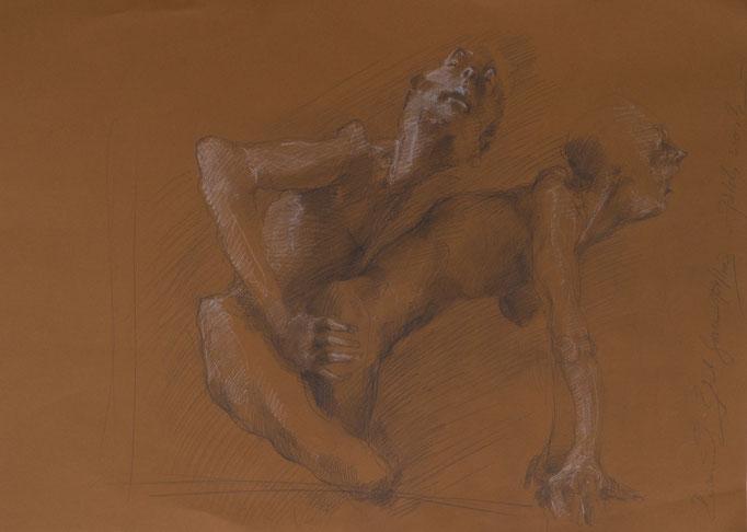 Patchwork, 2003, 70x50, Graphit/Papier, A28                            ©Raimund Egbert-Giesen